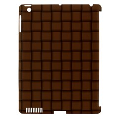 Brown Nose Weave Apple Ipad 3/4 Hardshell Case (compatible With Smart Cover)