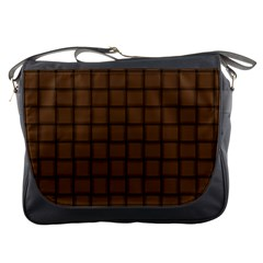 Brown Nose Weave Messenger Bag