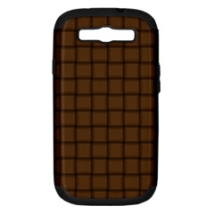 Brown Nose Weave Samsung Galaxy S Iii Hardshell Case (pc+silicone)