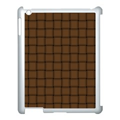 Brown Nose Weave Apple iPad 3/4 Case (White)