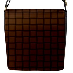 Brown Nose Weave Flap Closure Messenger Bag (small)