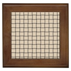 Champagne Weave Framed Ceramic Tile