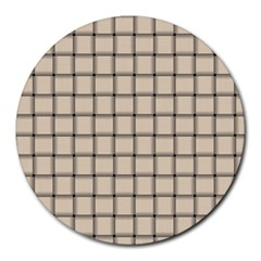 Champagne Weave 8  Mouse Pad (Round)