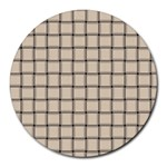 Champagne Weave 8  Mouse Pad (Round) Front
