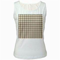 Champagne Weave Womens  Tank Top (white)