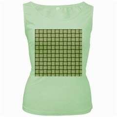 Champagne Weave Womens  Tank Top (green)