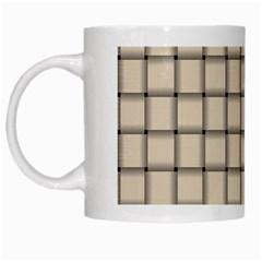 Champagne Weave White Coffee Mug