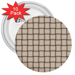 Champagne Weave 3  Button (10 pack)