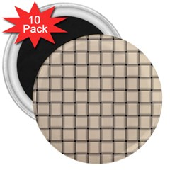 Champagne Weave 3  Button Magnet (10 pack)