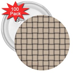 Champagne Weave 3  Button (100 Pack)