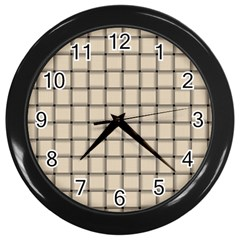 Champagne Weave Wall Clock (Black)