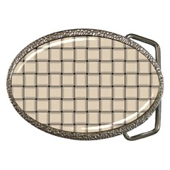 Champagne Weave Belt Buckle (Oval)