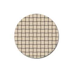 Champagne Weave Magnet 3  (Round)
