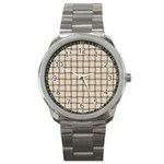 Champagne Weave Sport Metal Watch Front