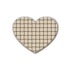 Champagne Weave Drink Coasters 4 Pack (Heart)