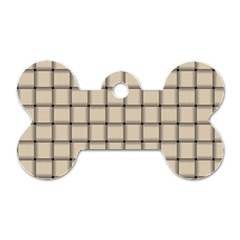 Champagne Weave Dog Tag Bone (Two Sided)