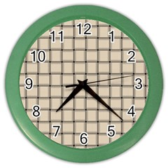 Champagne Weave Wall Clock (color)