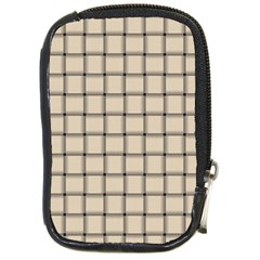 Champagne Weave Compact Camera Leather Case