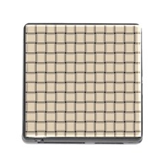 Champagne Weave Memory Card Reader with Storage (Square)