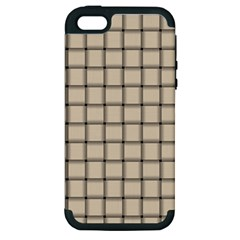 Champagne Weave Apple Iphone 5 Hardshell Case (pc+silicone)