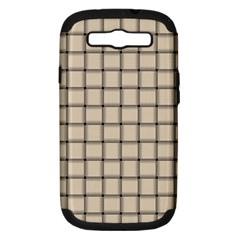 Champagne Weave Samsung Galaxy S III Hardshell Case (PC+Silicone)