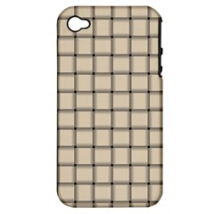 Champagne Weave Apple iPhone 4/4S Hardshell Case (PC+Silicone)