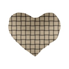 Champagne Weave 16  Premium Heart Shape Cushion