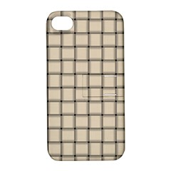 Champagne Weave Apple Iphone 4/4s Hardshell Case With Stand