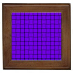 Violet Weave Framed Ceramic Tile