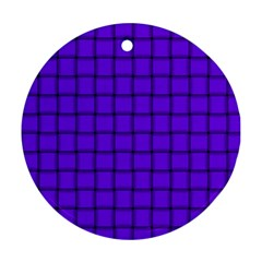 Violet Weave Round Ornament