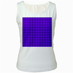 Violet Weave Womens  Tank Top (White)