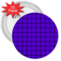 Violet Weave 3  Button (10 pack)