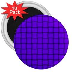 Violet Weave 3  Button Magnet (10 pack)
