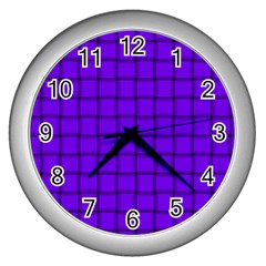 Violet Weave Wall Clock (Silver)