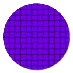 Violet Weave Magnet 5  (round)
