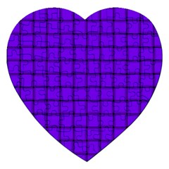Violet Weave Jigsaw Puzzle (heart)