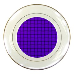 Violet Weave Porcelain Display Plate