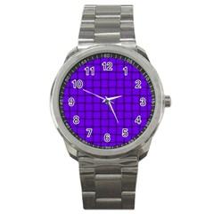 Violet Weave Sport Metal Watch