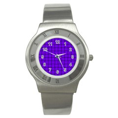 Violet Weave Stainless Steel Watch (Unisex)