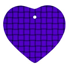 Violet Weave Heart Ornament (Two Sides)