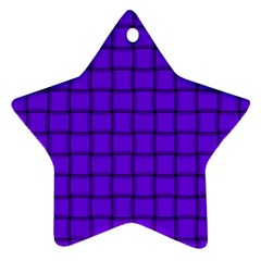 Violet Weave Star Ornament (Two Sides)