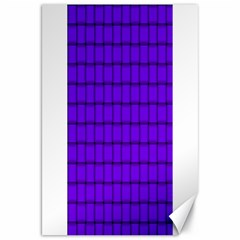 Violet Weave Canvas 20  x 30  (Unframed)
