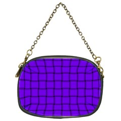 Violet Weave Chain Purse (One Side)
