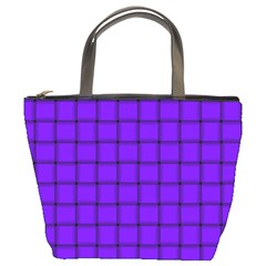 Violet Weave Bucket Bag