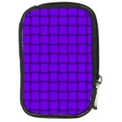 Violet Weave Compact Camera Leather Case