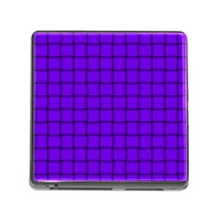 Violet Weave Memory Card Reader With Storage (square)