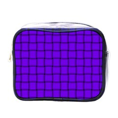 Violet Weave Mini Travel Toiletry Bag (one Side)