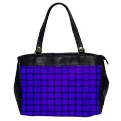 Violet Weave Oversize Office Handbag (One Side)
