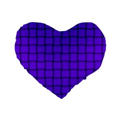 Violet Weave 16  Premium Heart Shape Cushion