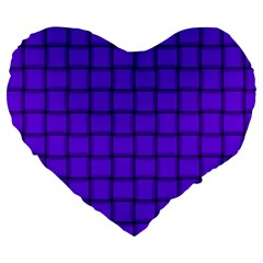 Violet Weave 19  Premium Heart Shape Cushion